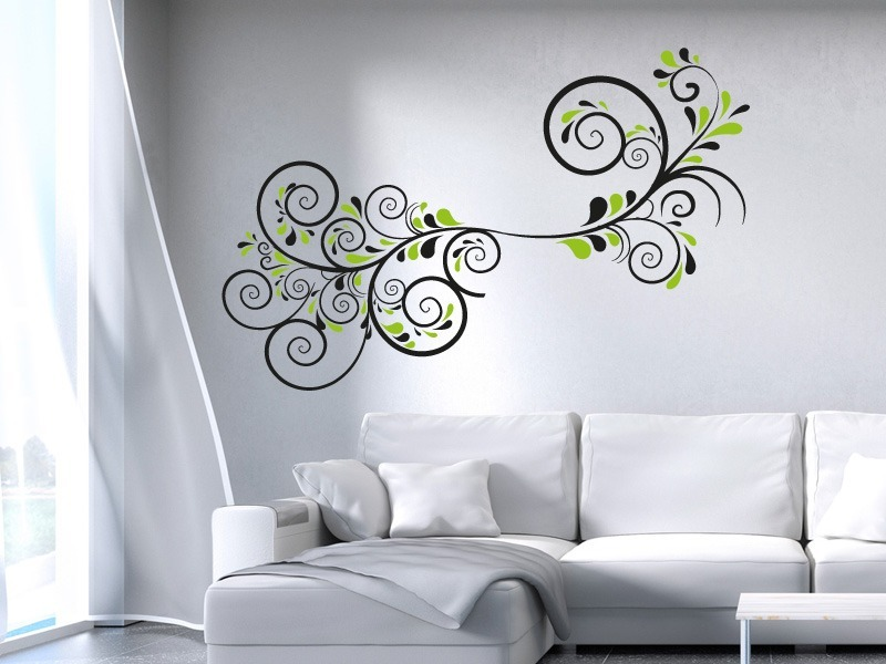 wandtattoo florales ornament 2 online bestellen im shop. Black Bedroom Furniture Sets. Home Design Ideas