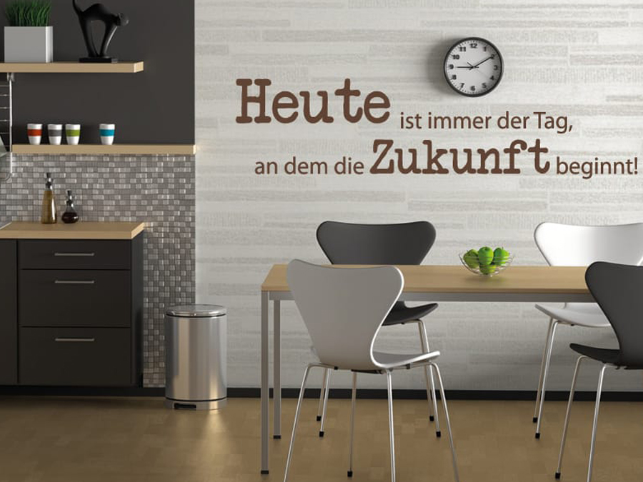 wandtattoo spr che und zitate essbereich reuniecollegenoetsele. Black Bedroom Furniture Sets. Home Design Ideas