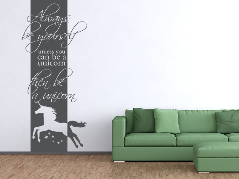 wandtattoo banner unicorn online bestellen im shop. Black Bedroom Furniture Sets. Home Design Ideas