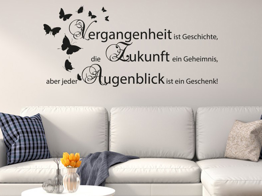 wohnzimmergestaltung mit wandtattoo. Black Bedroom Furniture Sets. Home Design Ideas