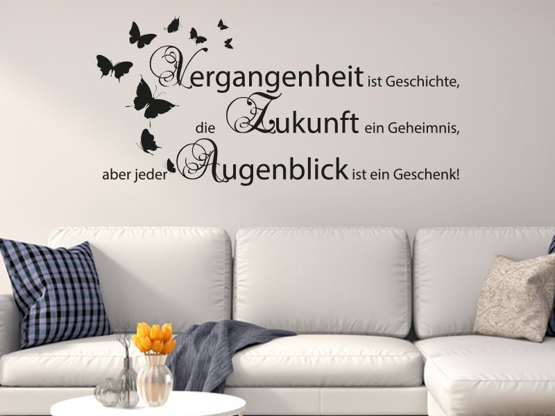 wandtattoo vergangenheit ist online bestellen im. Black Bedroom Furniture Sets. Home Design Ideas